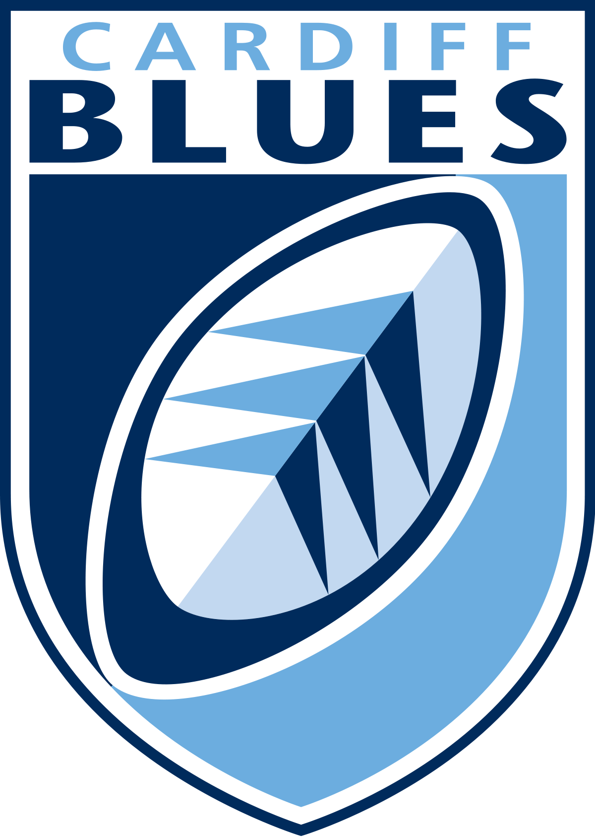Cardiff Blues Rugby Logo in colour with clear background large