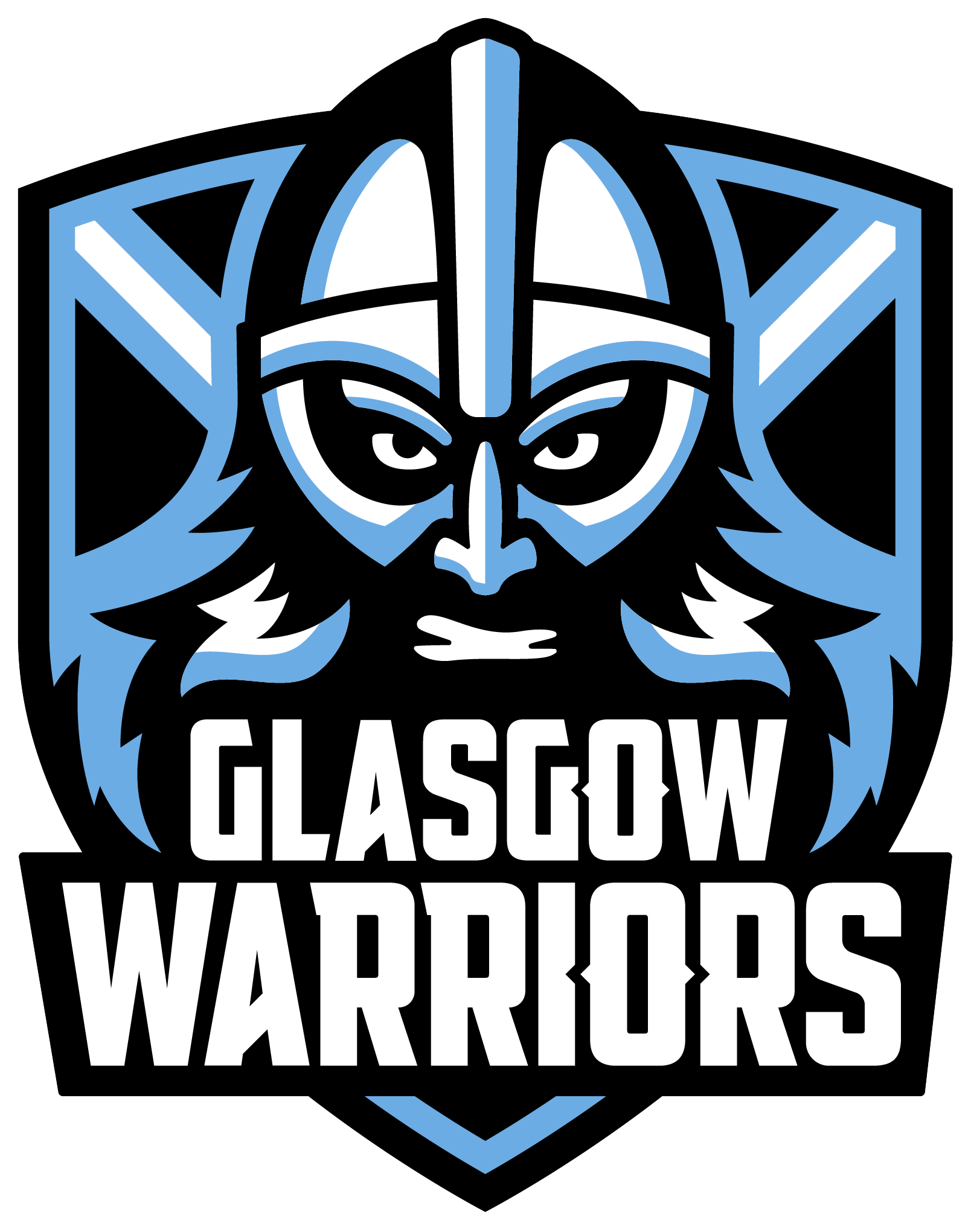 Glasgow Warriors logo in colour with clear background