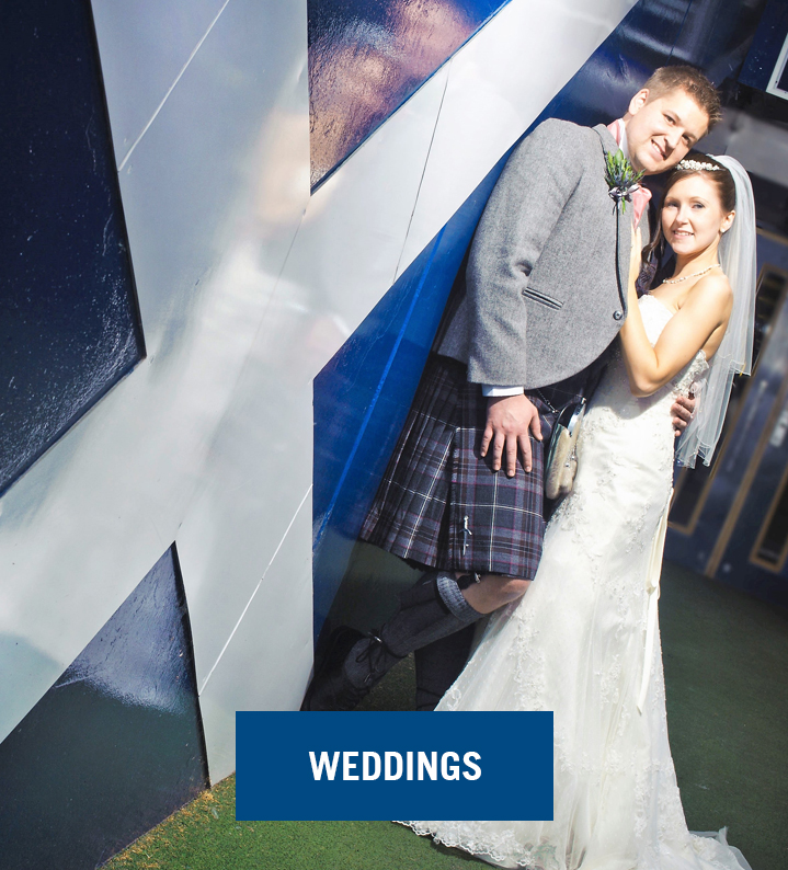 Weddings Image and Blue Button