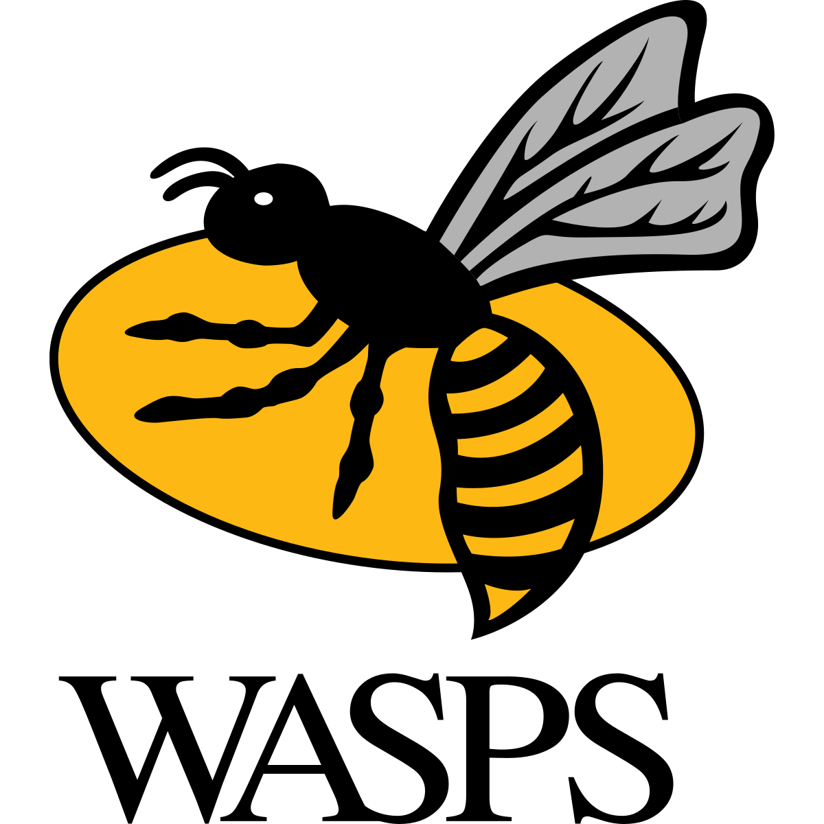 Wasps logo colour clear background large